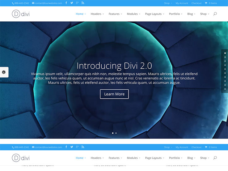 25 best landing page wordpress themes 2016 - Divi theme ecommerce ...