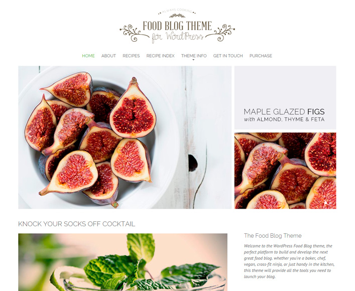 Top 20 best food recipes wordpress themes food blog forumfinder Image collections