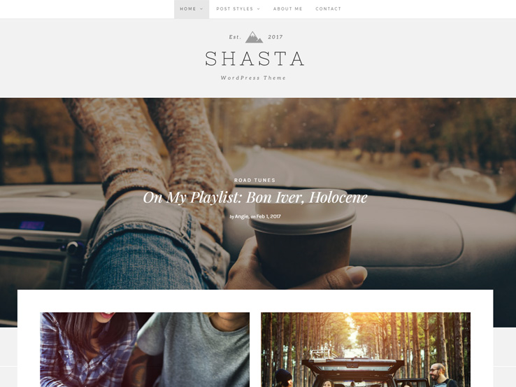 Shasta Lifestyle Theme