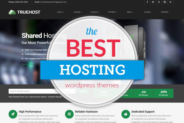 25+ Best Hosting WordPress Themes 2018