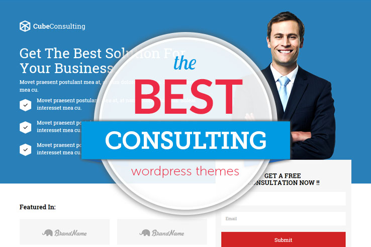 40+ Best Consulting WordPress Themes for Contractors 2018