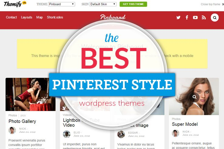the best pinterest style wordpress themes