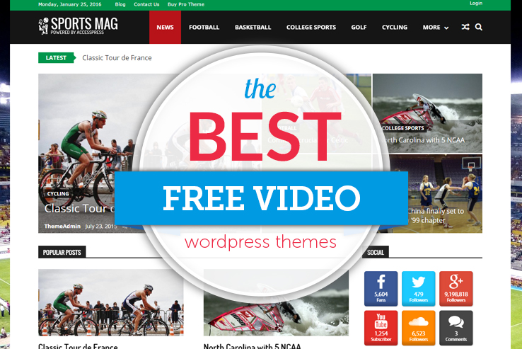 best free video wordpress themes