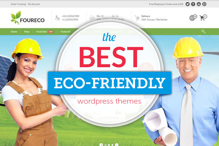 the best eco friendly themes