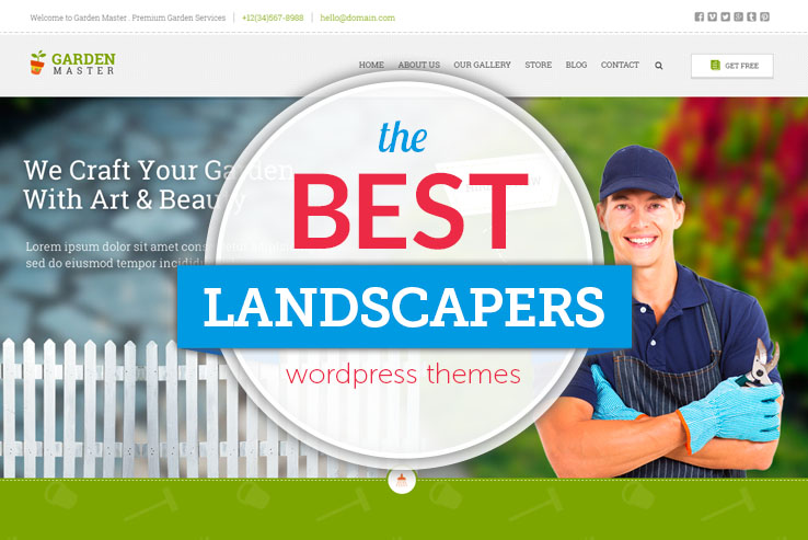 best landscapers wordpress themes