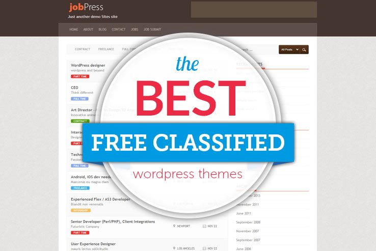 the best free classified themes