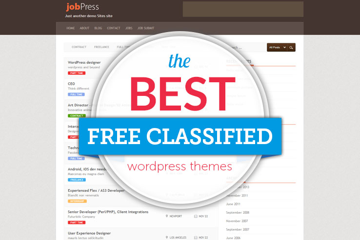 Best Free WordPress Classified Themes 2018