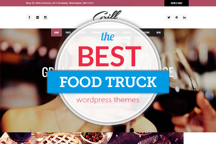 Best Food Truck WordPress Themes