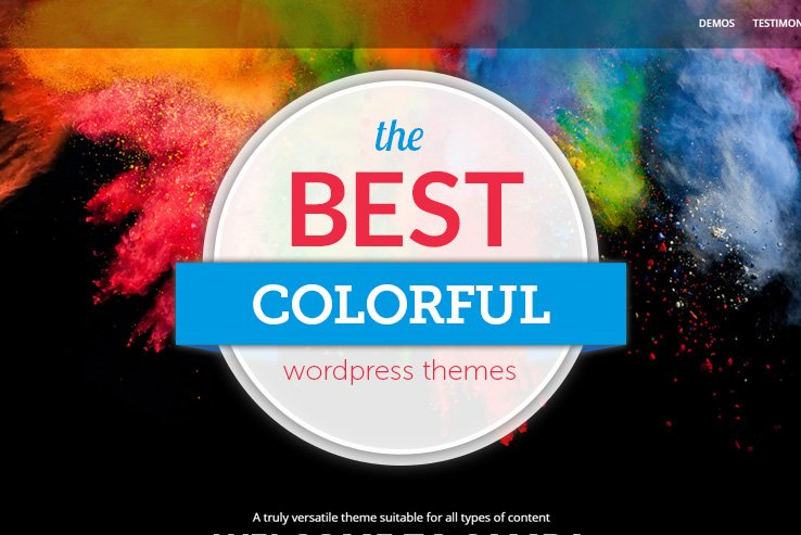 best colorful wordpress themes