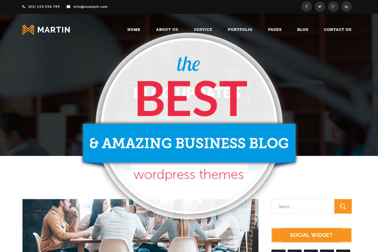 amazing business blog themes