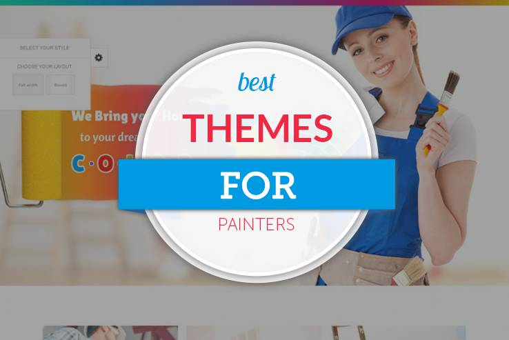 13 colorful wordpress themes for painters 2018