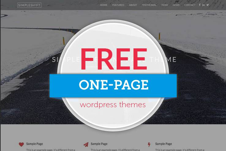 Free One Page Themes