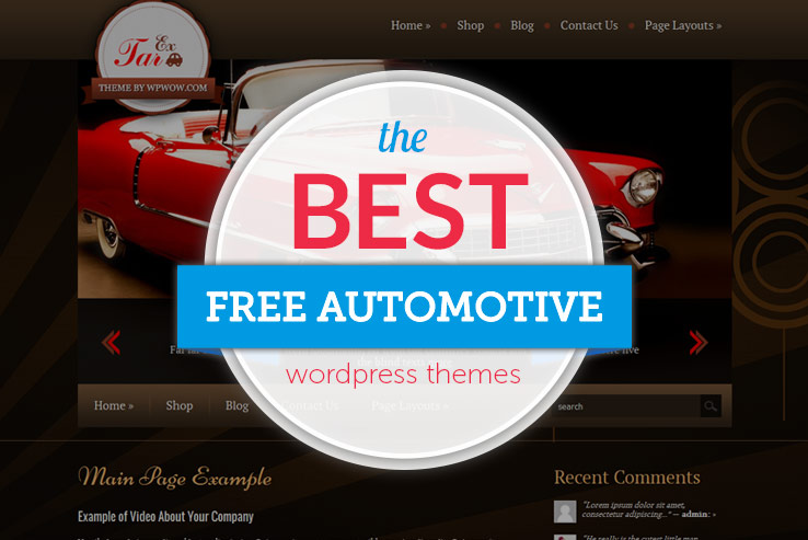 14 free automotive wordpress themes for car dealers 2018