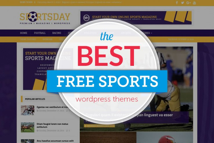 free sports wordpress themes