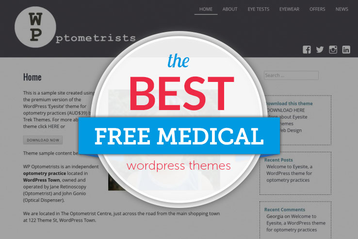 18+ Free Medical WordPress Themes 2019
