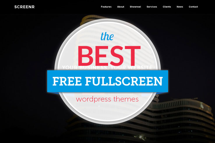 free fullscreen WordPress themes