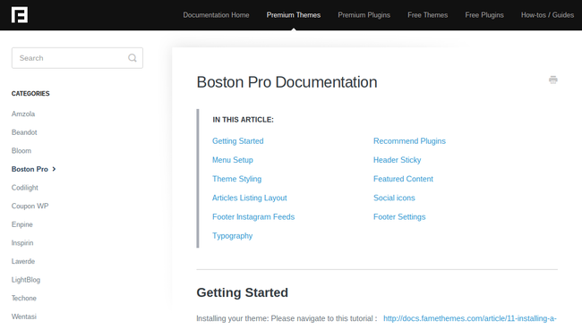 Boston Pro Documentation
