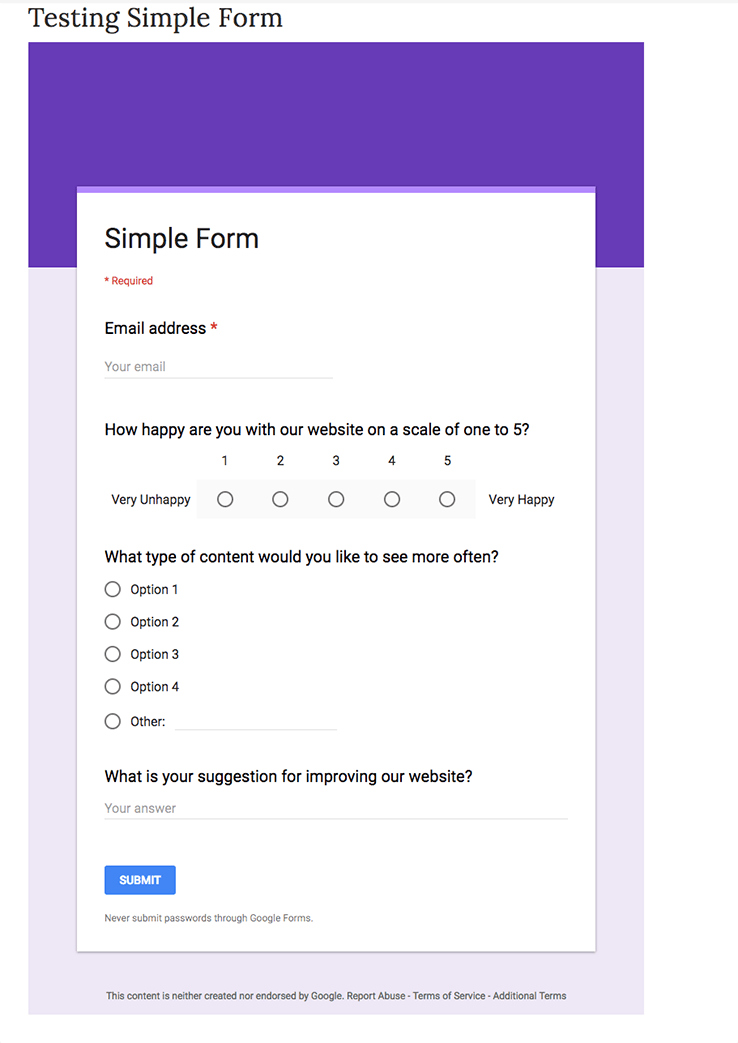 Embed a Google Form to your WordPress Site with these Easy Steps