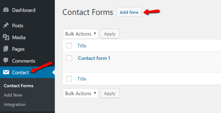 WordPress contact form guide