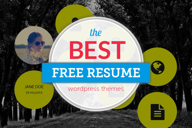 free resume WordPress themes