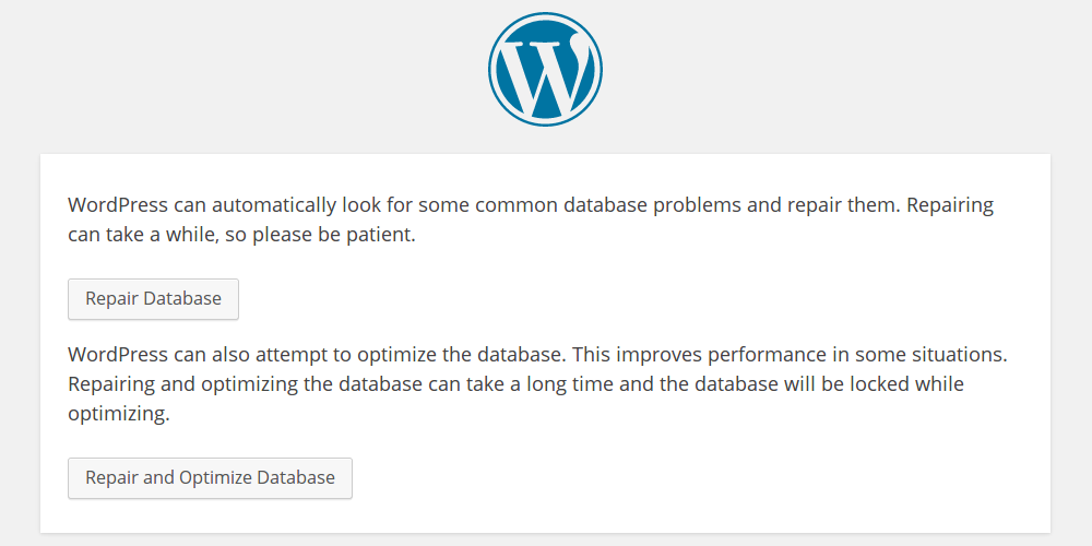 Repair database.