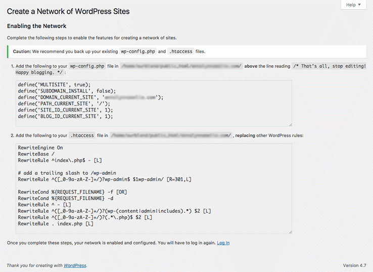 Add this code to wp.config and .htaccess files
