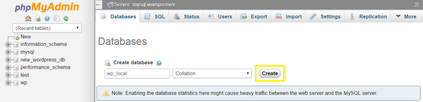 Database name