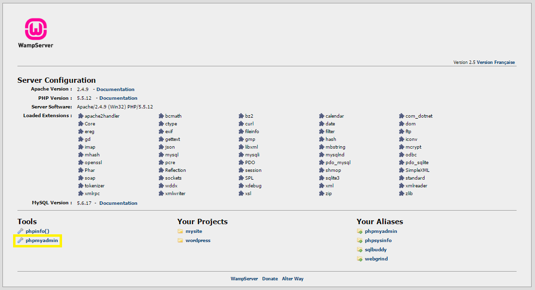 Setup database