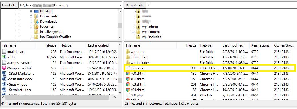 .htaccess file