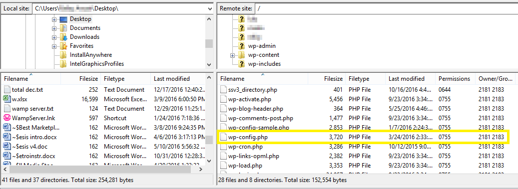 wp-config file