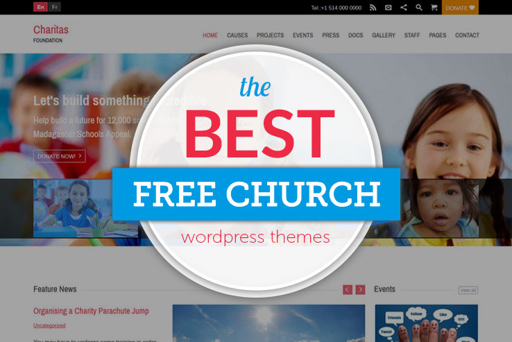 10+ Free Church WordPress Themes 2019