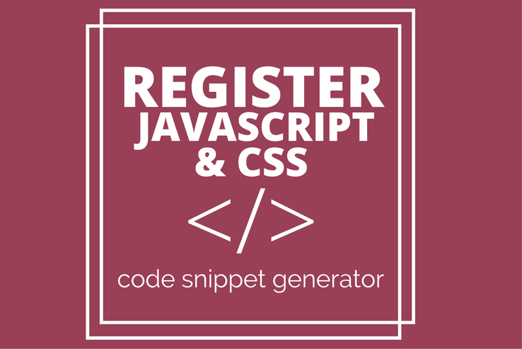 Register Javascript & CSS