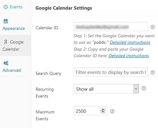 Embed Google Calendar - Simple Calendar - Google Calendar Plugin Calendar ID, Configured