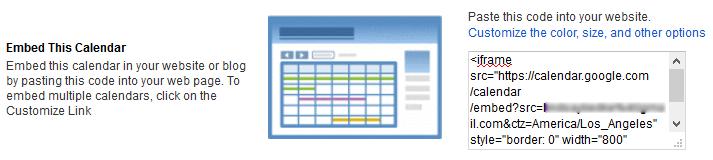 Embed Google Calendar - Embed This Calendar
