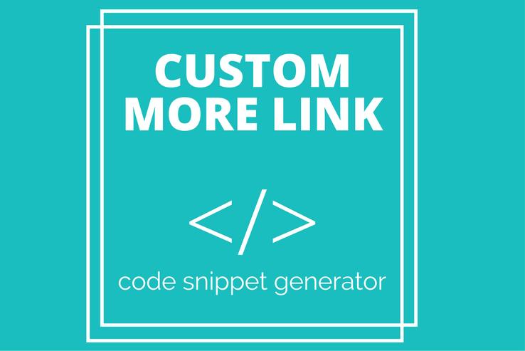 Custom More Link