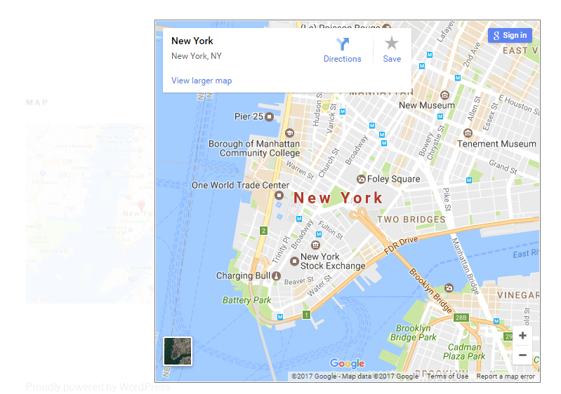Preview of Google Maps
