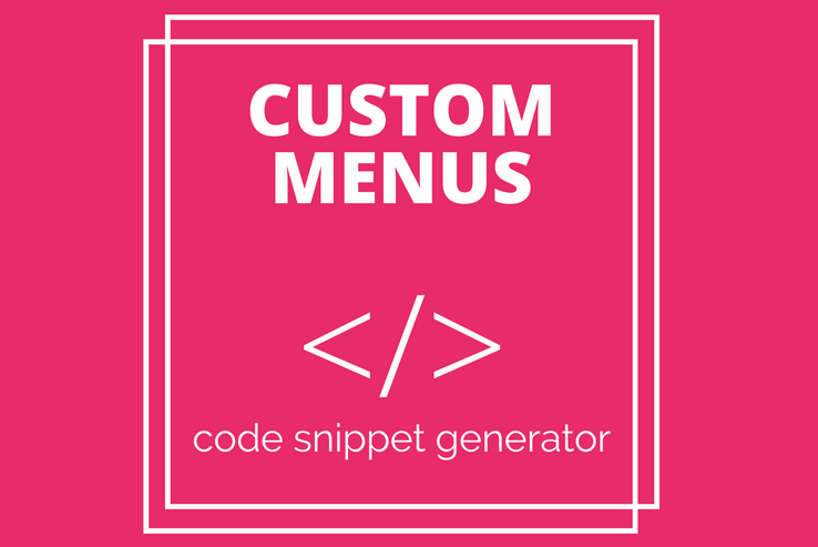 Thesis theme custom menu