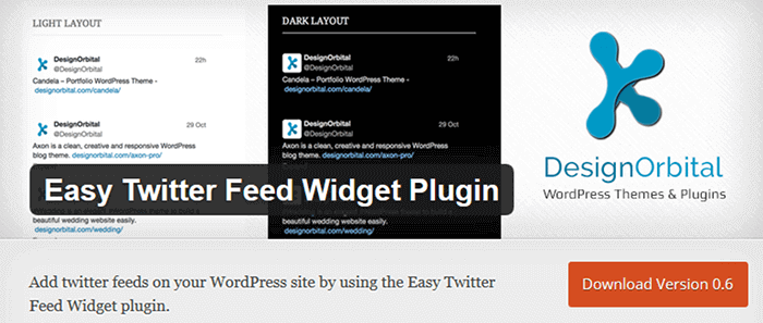 thesis theme twitter widget