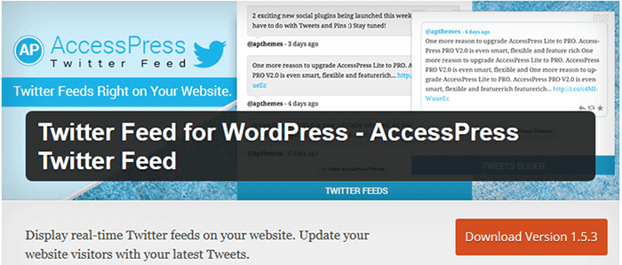 Twitter Feed for WordPress