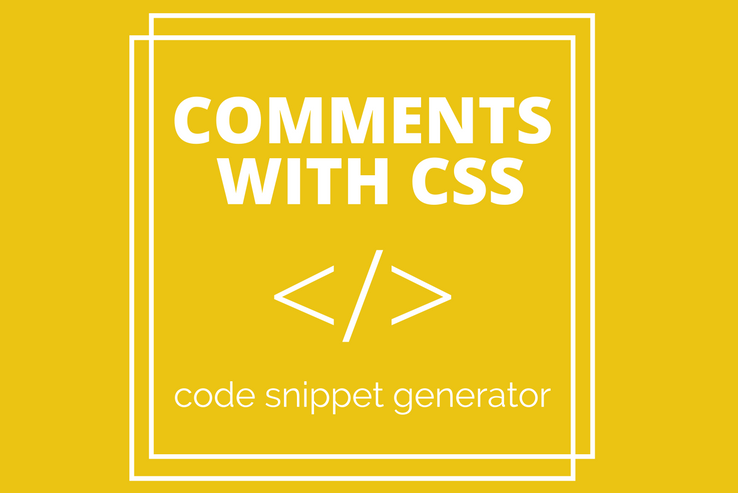 Comments with CSS