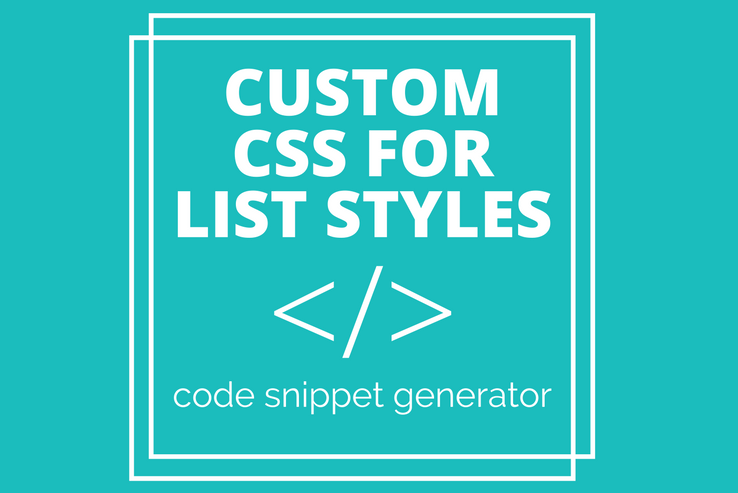 Custom CSS for List Styles