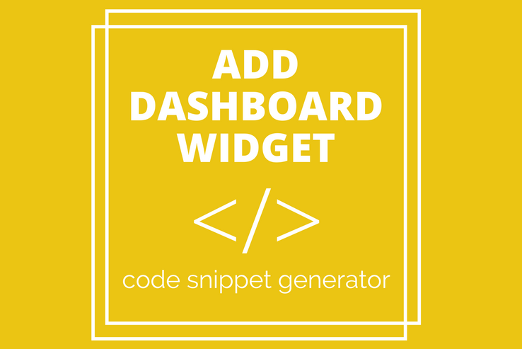 Add Dashboard Widget