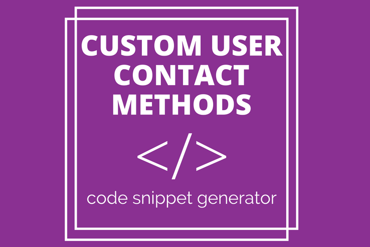 Custom User Contact Methods
