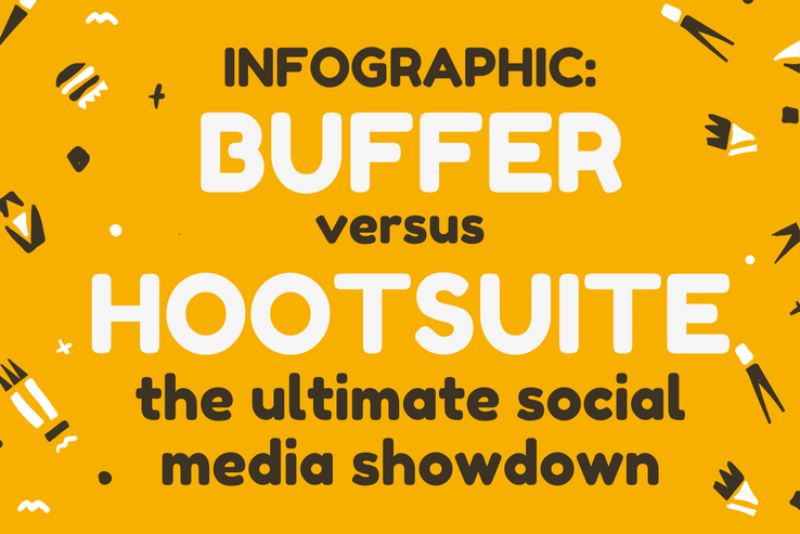 Infographic on Buffer vs. Hootsuite