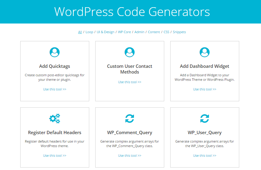 Code Generator Tools