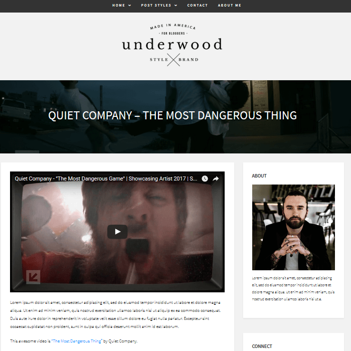 Underwood-WordPress-Blogging-Theme-Video-Content-Custom-Post-Format