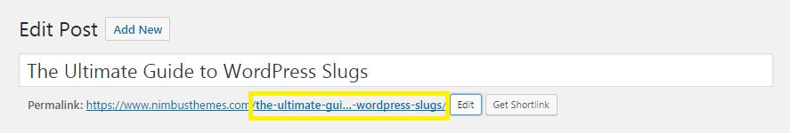 WordPress slugs