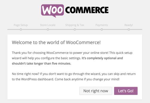 WooCommerce-Setup-Wizard, eCommerce Platform