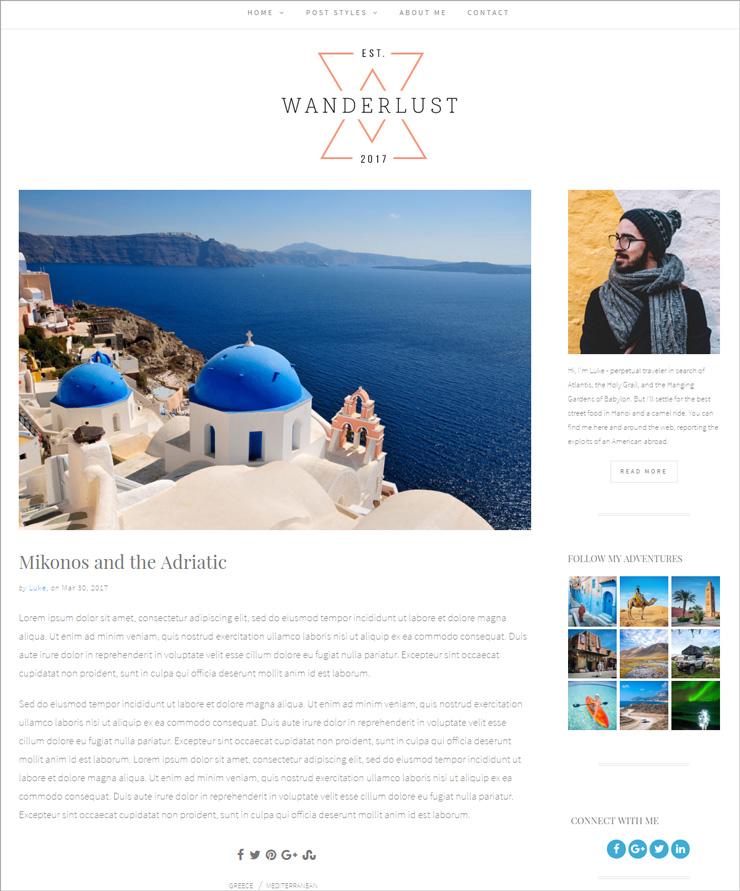 Wanderlust Standard Post