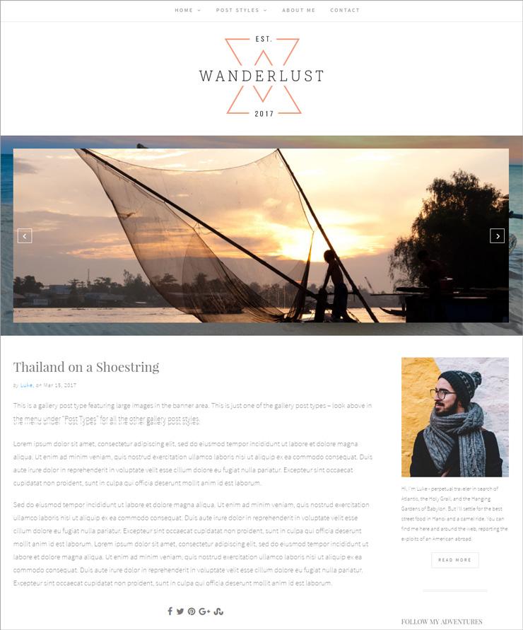 Wanderlust Image Gallery in Banner